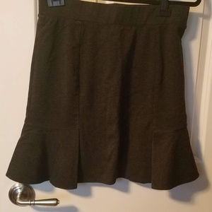 Charcoal Grey Pleated Flare Skirt